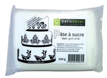 Achat en ligne Pâte à sucre blanc aromatisée vanille 250g