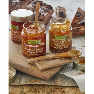 SAVOR & SENS - Moutarde aux tomate séchées et aux épices 130g