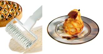 Rouleau à pâte losange croisillons en plastique