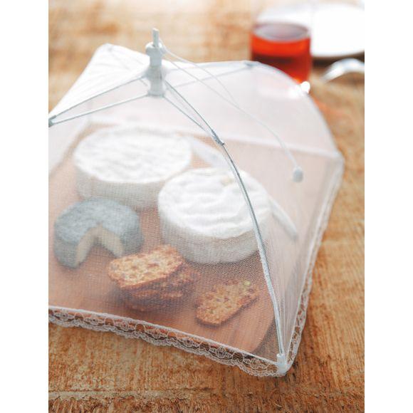 Campana per piatto da formaggio in tessuto ripieghevole 35x35cm