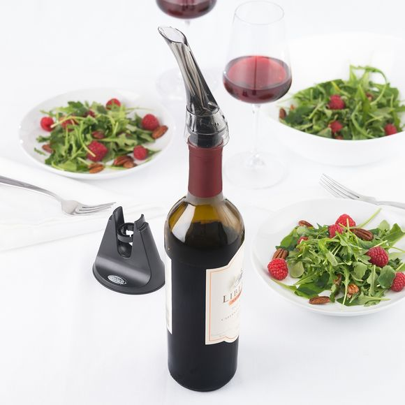 Achat en ligne Verseur aérateur à vin rouge en plastique transparent Aroma
