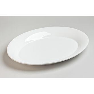 Plat ovale Etna blanc 40x30cm