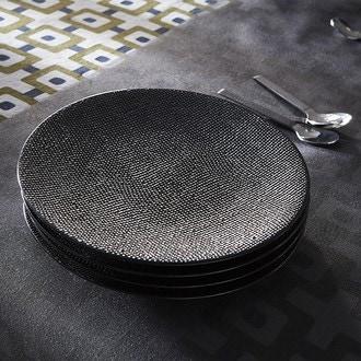 Assiette à dessert Vezuvio noire 20cm