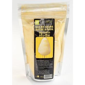 PATISDECOR - Sucre pour barbe à papa au citron jaune 400g