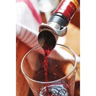 Bouchon de vin anti-goutte gris et noir