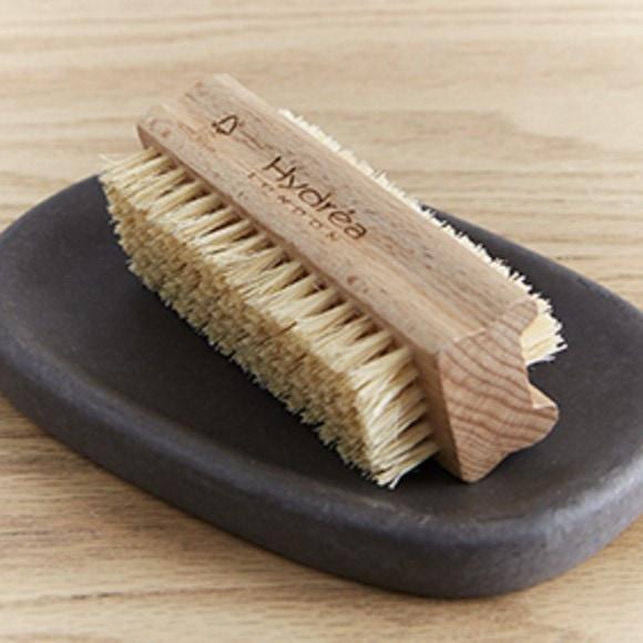 Brosse à ongles double en bois hêtre et crin dur