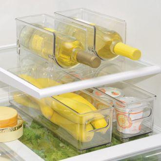 INTERDESIGN - Bac de rangement frigo 1 bouteille en acrylique 10,3x10x20,5cm