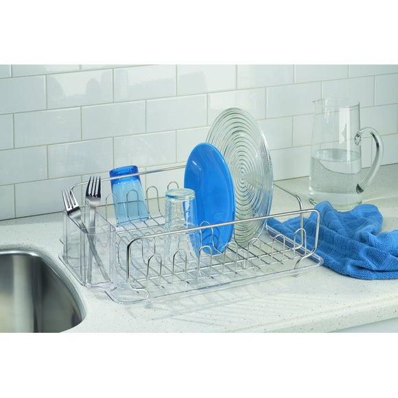 Égouttoir à vaisselle en inox et plastique