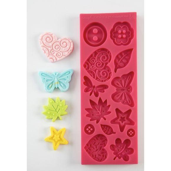 Stampo decorativo in silicone per pasta di zucchero 16x6x0,8cm