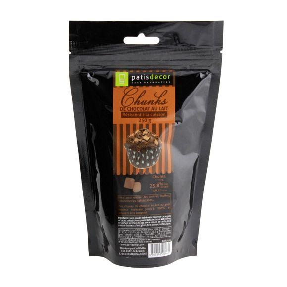 Achat en ligne Chunks de chocolat au lait en sachet 250g