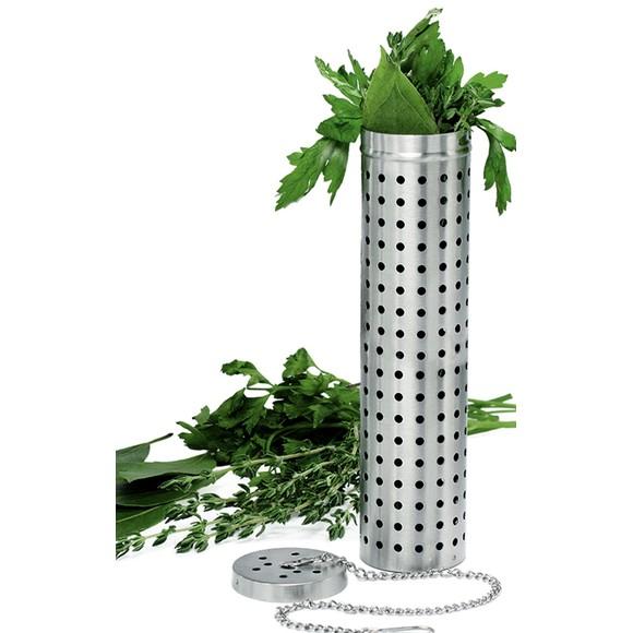 Infusore per bouquet in acciaio satinato 15cm