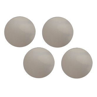 Set de 4 miroirs ronds gris Ø15cm