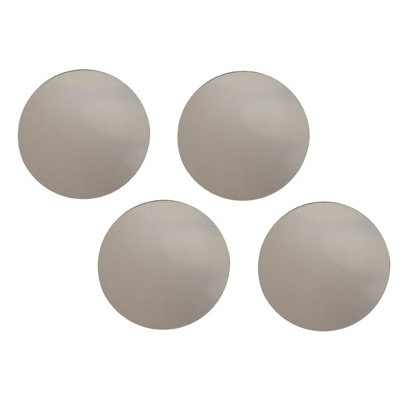 Set de 4 miroirs ronds gris 15cm pas cher z dio for Miroir zodio