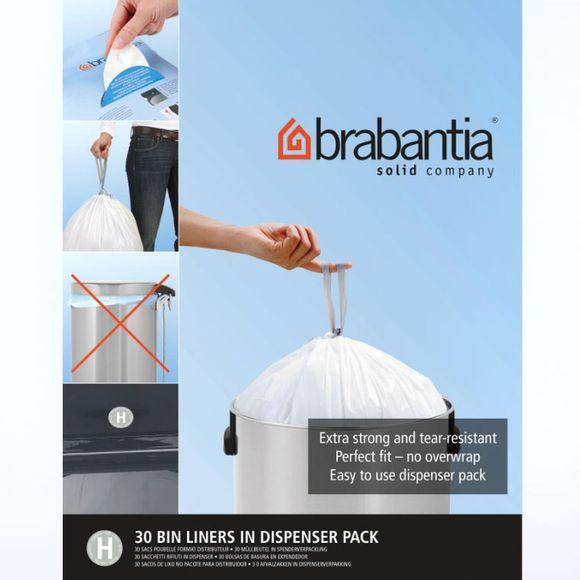 Lot 30 sacs poubelle perfectfit H 50-60 litres