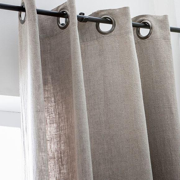 rideau naturel en lin 140x280cm pas cher z dio. Black Bedroom Furniture Sets. Home Design Ideas
