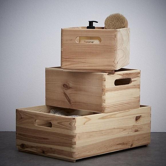 Tiroir bois brut poignée 30x20
