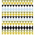 Rideau de douche imprimé triangles