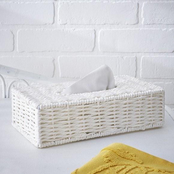 Achat en ligne Boite à mouchoirs regtangulaire blanche Regate