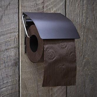 Dérouleur pour papier toilette avec couvercle noir