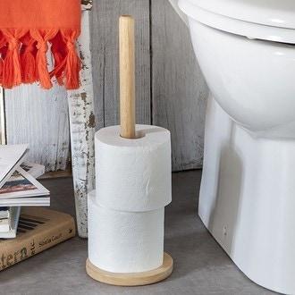 Stockeur pour papier toilette 3 rouleaux en bois