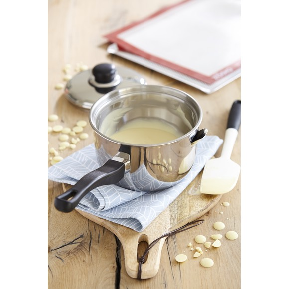 Casseruola per bagno maria con coperchio in inox, Ø 16cm