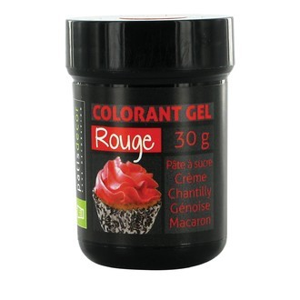 Colorant alimentaire en gel rouge 30g
