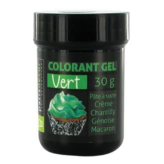 Colorant alimentaire en gel vert 30g