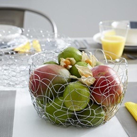Corbeille à fruits ronde en métal