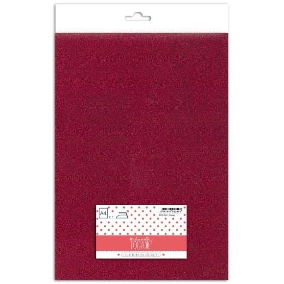 Achat en ligne Feuille thermocollante pailletée rouge format A4