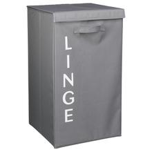 Achat en ligne Panier à linge pliable en tissu gris 70 l