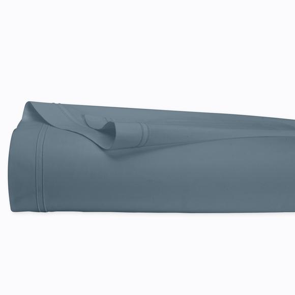 acquista online Lenzuolo matrimoniale king size in cotone percalle blu grigio