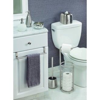 InterDesign valet de wc avec dérouleur et support papier toilette chrome