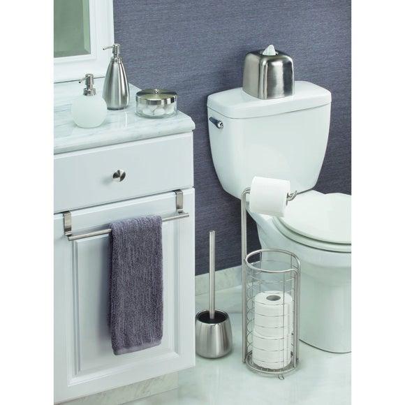 interdesign valet de wc avec d rouleur et support papier toilette chrome pas cher z dio. Black Bedroom Furniture Sets. Home Design Ideas