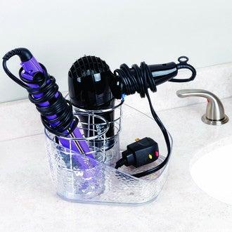 INTERDESIGN - Range sèche cheveux et fer à lisser en acrylique