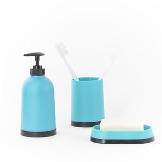 Gobelet à dents en plastique turquoise