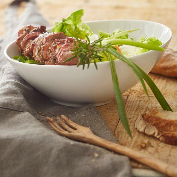 Achat en ligne Bol à salade incliné blanc 23x10cm