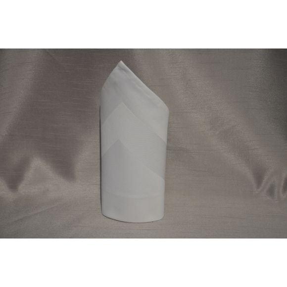 Asciugamano con fascia di raso bianco 45cm