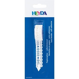 Dentelle papier vagues blanches 17mmx2m
