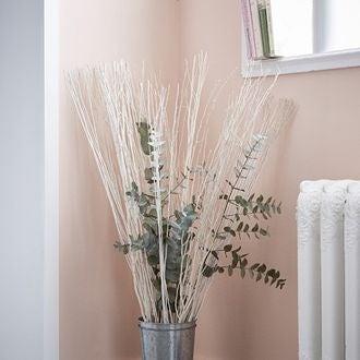 7 branches naturelles fines White lady blanc 100cm