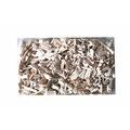 Pellets bois décoratifs pour composition florale blanc 200gr