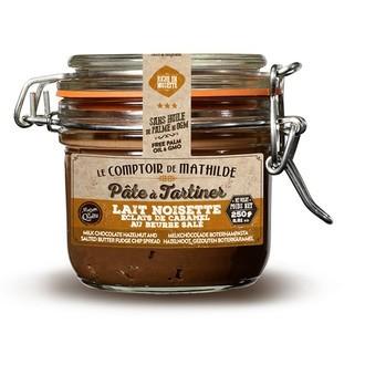 LE COMPTOIR DE MATHILDE - Pâte à tartiner au chocolat au lait et caramel au beurre salé 250g