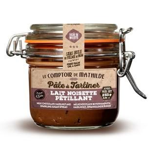LE COMPTOIR DE MATHILDE - Pâte à tartiner au chocolat au lait pétillant 250g