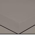Lenzuolo con angoli singolo in cotone percalle grigio