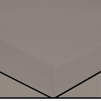 Drap housse en coton grande épaisseur cendre 140x200cm