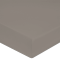 Lenzuolo con angoli matrimoniale king size in percalle grigio