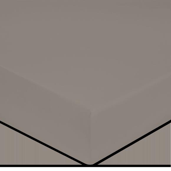 acquista online Lenzuolo con angoli king size in percalle grigio 200x200