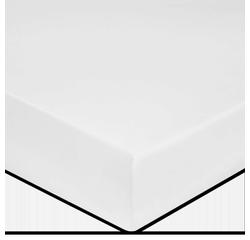 Achat en ligne Drap housse en coton grande épaisseur ivoire 160x200cm
