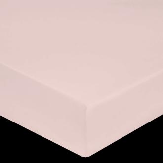 Maom - drap housse en percale rose fard 180x200cm