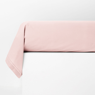 Taie de traversin rectangle en percale rose fard 44x185cm