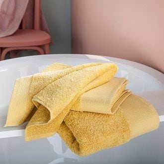 Serviette de bain bio jaune 100x150cm
